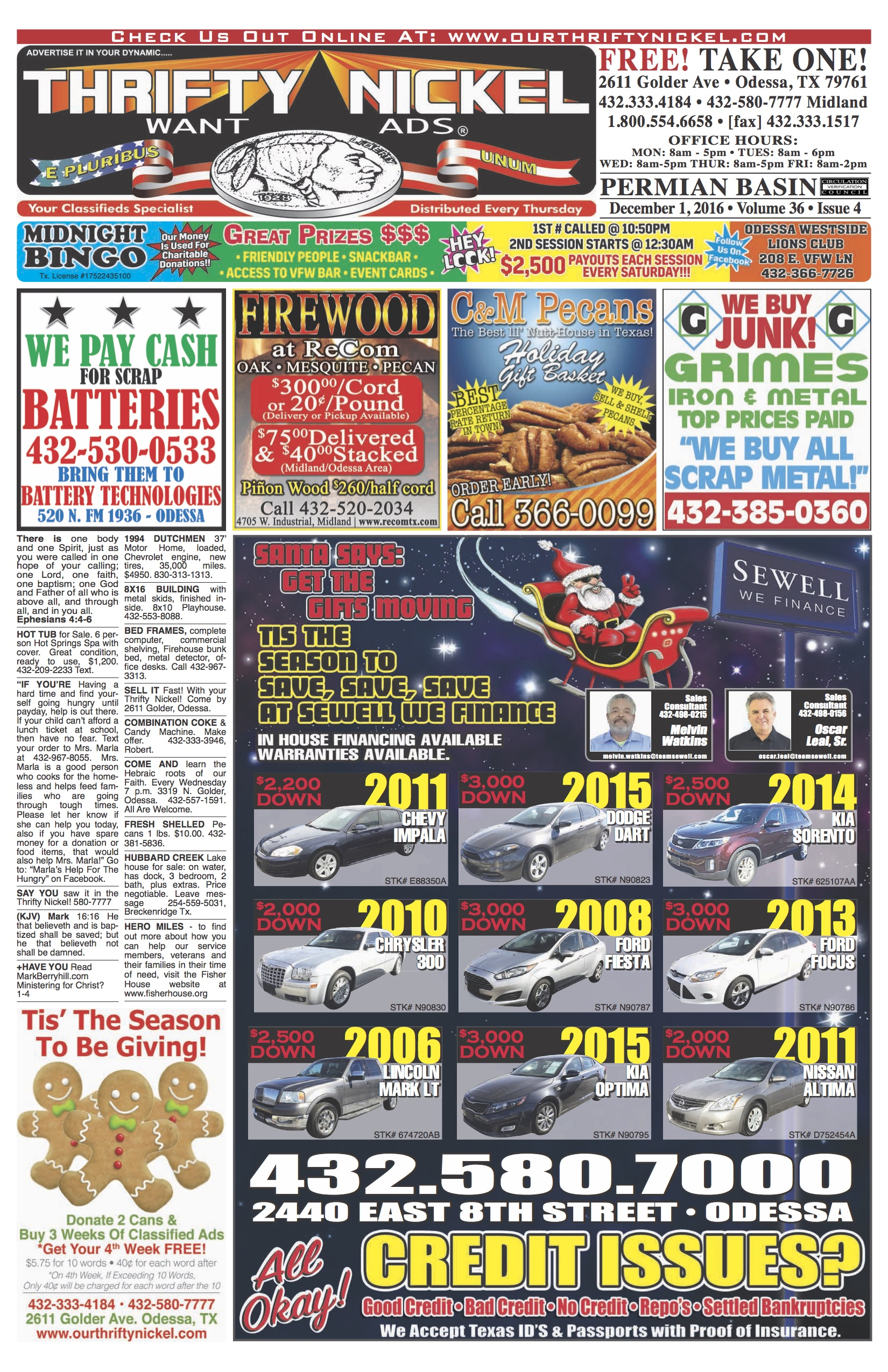 2016-12-01 Front Page